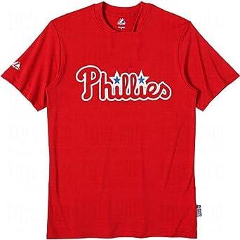 Majestic Philadelphia Phillies Crew Neck Adult White T-Shirt