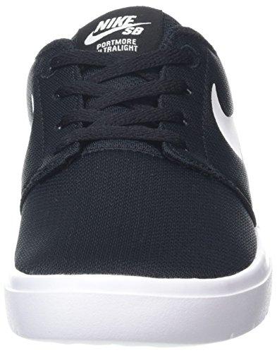 Nike Jungen Portmore II Ultralight (GS) Skateboardschuhe Schwarz (Blackwhite 001)