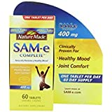 Nature Made SAM e Complete Molecule Produced 400mg 60 Tablets