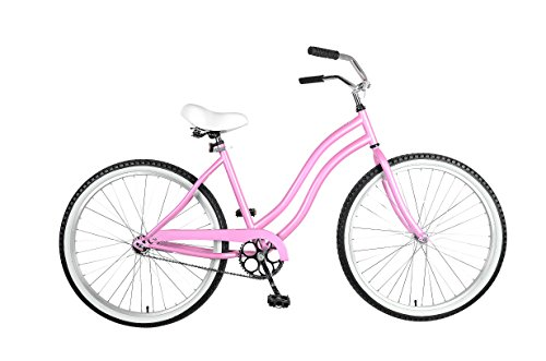 Cycle Force Cruiser Bike, 26 inch Wheels, 18 inch Frame, Women's Bike, Pink