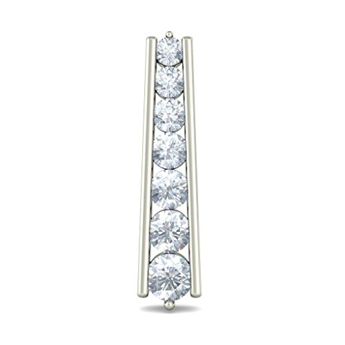 Or blanc 18 K 0.534 CT TW Round-cut-diamond (IJ | SI) Boucles d'oreille à tige