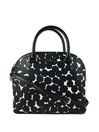 Kate Spade New York Carli Grove Street Splodge Dot Leather Handbag in Black/Cream