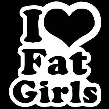 Amazon I Heart Fat Girls Vinyl Sticker Automotive