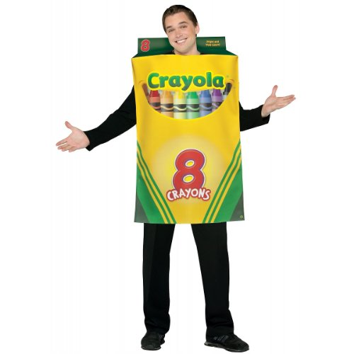 Crayola Crayon Box Costume - One Size - Chest Size 48-52 - Crayon Costumes For Adults