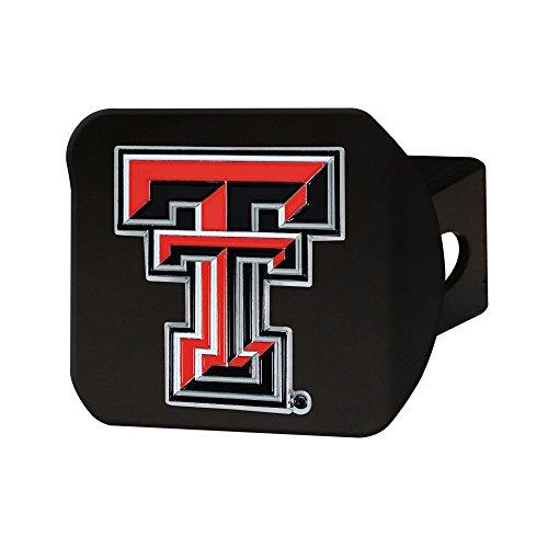 (Texas Tech University Black Hitch Cover with Color Emblem)