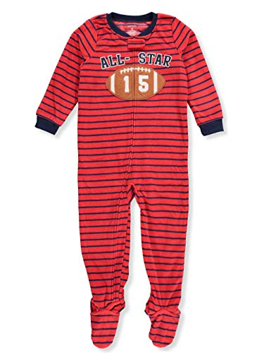 Carter's Little Boys' Toddler 1-Piece Footed Pajamas - red/Blue, 2t