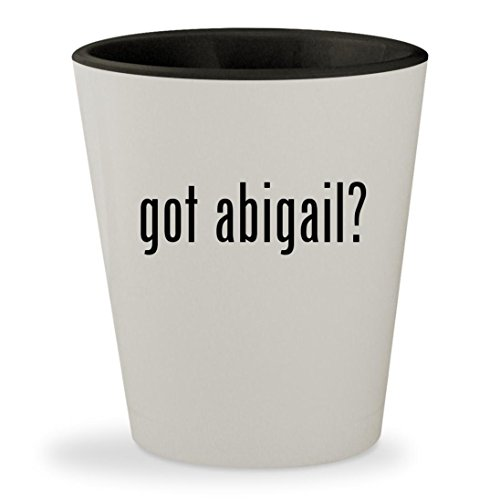 St Abigail Costume (got abigail? - White Outer & Black Inner Ceramic 1.5oz Shot Glass)