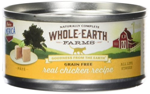 Whole Earth Farms 295242 Grain Free Real Chicken Recipe Pâté Canned Cat Food, One Size