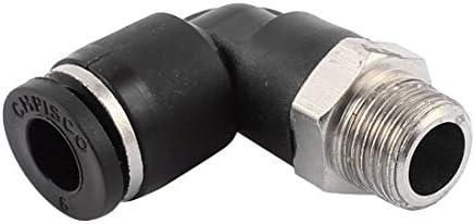 uxcell クイック継手 0.3mmマレスレッド-6mmプッシュチューブ L字型エルボ 空気空気圧