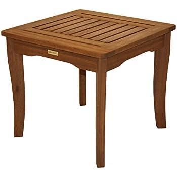 Outdoor Interiors 19470 Eucalyptus End Table. Amazon com   Amazonia Milano Side Eucalyptus Table   Patio Side