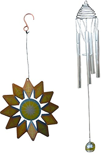 Iron Stop Golden Sun Wind Spinner With Chime