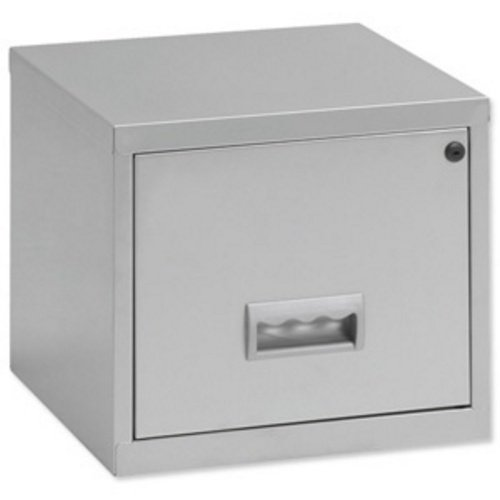Pierre Henry Filing Cube Cabinet Steel Lockable 1 Drawer A4 W400xD400xH400mm Silver Ref 599000 Pierre Henry UK Ltd 665628