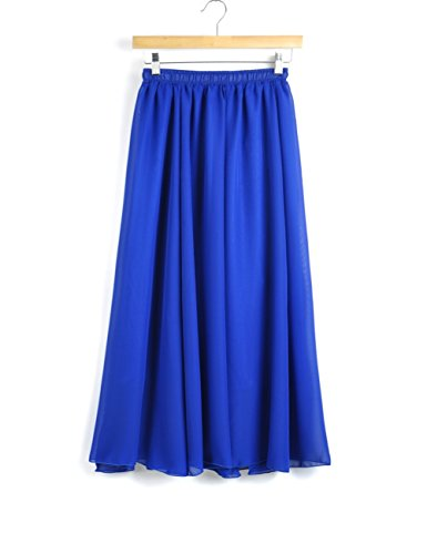 CLZ - Falda - Manga Larga - para mujer Azul