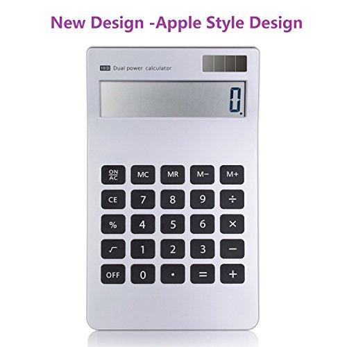Calculator, 10 Digit Apple Style Design Calculator Dual