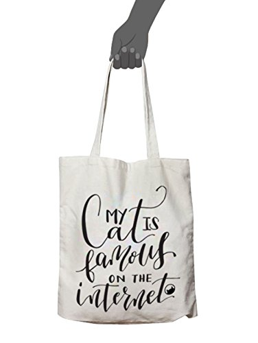 My Cat is Famous On The Internet - Canvas Tote - Tabby James (On Internet Famous The)