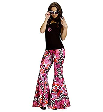 60s Costumes: Hippie, Go Go Dancer, Flower Child Hippie Costume Bell Bottom Pants Adult Medium/Large $18.70 AT vintagedancer.com