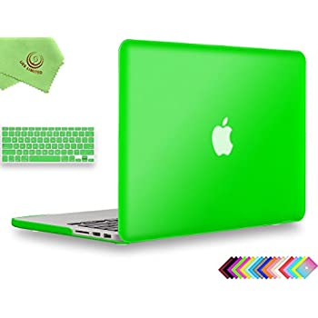 """UESWILL 2in1 Smooth Soft-Touch Matte Hard Shell Case with Keyboard Cover for (Late 2012-Early 2015 Version) MacBook Pro 13"""" with Retina Display (No CD-ROM) (Models: A1502/A1425), Deep Green"""