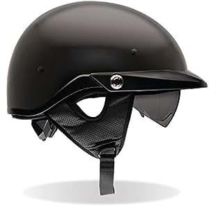 Bell Pit Boss Unisex-Adult Half Street Helmet (Matte Black, Large) (D.O.T.-Certified)