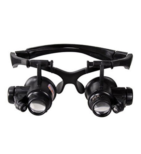 Head-mounted Magnifying Glass To Read The Elderly Surgical Repair 10X/15X/20X/25X Magnifier with LED Light HD