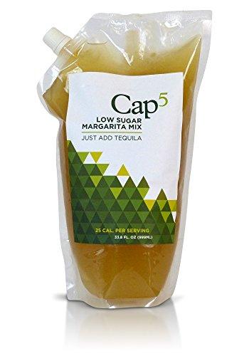 Margarita Mix. Cap 5 All Natural, Low Sugar, Fresh Ingredients, Low Calorie Margarita Mix, Raw Honey (33.8oz) - Margarita Machine Mix
