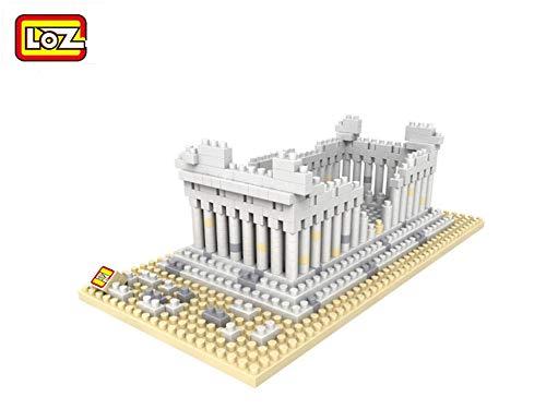 Greek Blocks - LOZ 9383 Diamond Blocks Greek Temple Model Building Bricks Architecture Blocks DIY Gift Toys for Kids Plastic Assembly Toys Kits
