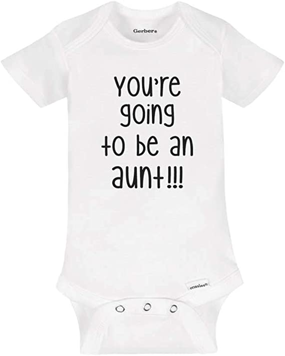 Pregnancy Reveal Bodysuit Going to Be an Aunt Hello Auntie BABY Onesie\u2122 baby on the way We/'re expecting