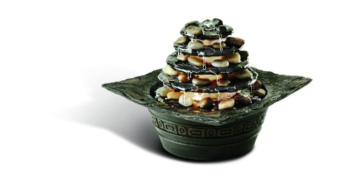 Homedics Wfl-pgd Envirascape Natural Pagoda Illuminated Relaxation Fountain, (Homedics Envirascape Water)