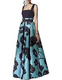 0abfe9f6fd Womens Short Sleeve Long Sleeve Floral Printed Prom Cocktail Swing Long  Dress