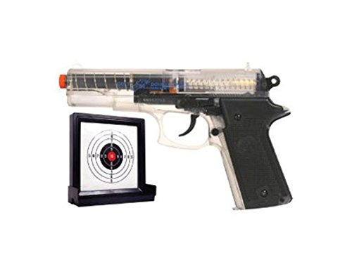 Double Eagle Spring Pistol,clear clam with an extra magazine and a target. by Double Eagle