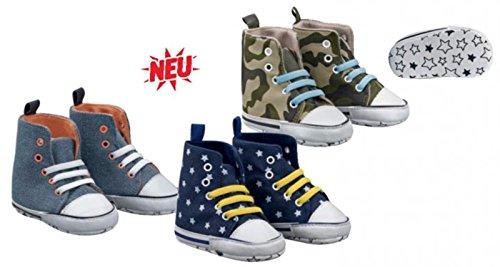 Ch-home-design CH-229 - Zapatillas de algodón para bebé Marine (Stern) Talla:18-19 Khaki (armee)