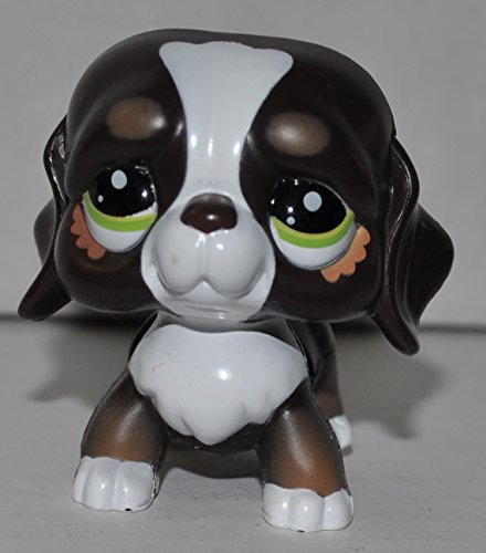 St. Bernard (Brown) (Walkables) - Littlest Pet Shop (Retired) Collector Toy - LPS Collectible Replacement Single Figure - Loose (OOP Out of Package & Print)