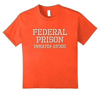 Funny Federal Prison Inmate Halloween Costume Tshirt