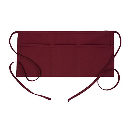 (Fame Adult 3 Pocket Waist Apron (Burgundy-O/S) F9-83499)