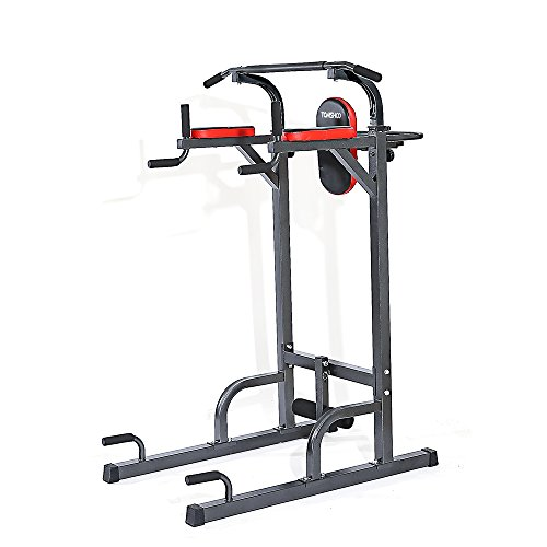 0922d1ceb69 ... Adjustable Sturdy Steel Pull Up Stand Rack Push Up Pull Knee Raise  Multi Station Power Tower Muscle Strength Toner Home Gym Workout Fitness  Equipment