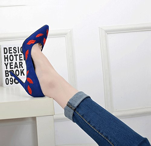 Mouth Comfortable Elegant 10cm Sexy Sandals 9cm Wedding Shallow Fashion Shoes High Women Heels 7cm Pointed Blue wCCvE