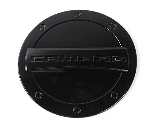 FMtoppeak 5 Colors Exterior Fuel Tank Cover Gas Lid Cap Accessories ABS For Chevrolet Camaro 2016 Up (Black)