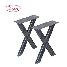 W5034E2 Bench legs X-shape, 2 Pack, Narrow Coffee Table Legs by Rusty Design