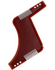 Brown Beard Shaping Comb Hair Styling Anti-static Brush Beard Hair Trimming Template Modeling Tools Hair Shaving Brush Combs