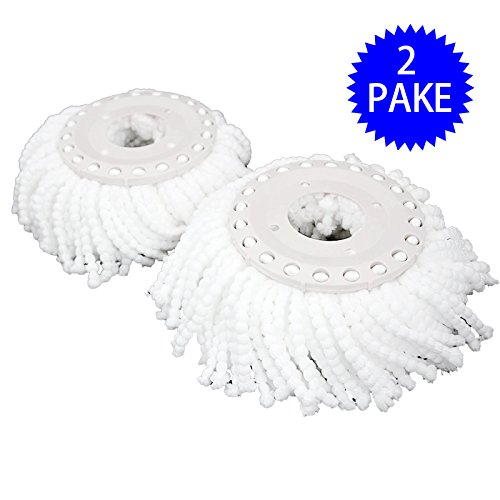 Metal Glo Magic Cloth (NEW Lot Of 2 Replacement Mop Micro Head Refill Hurricane For 360° Spin Magic Mop)