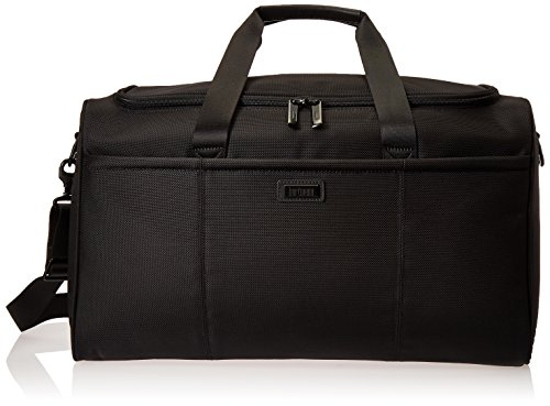 Hartmann Leather Duffel - Hartmann Ratio Travel Duffel, True Black