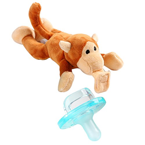 - Youly Baby Pacifier,Monkey Pacifier Infant Toy Stuffed Animal Binky Soft Plush Toy with Detachable Silicone Baby Dummy for Newborn Boys & Girl