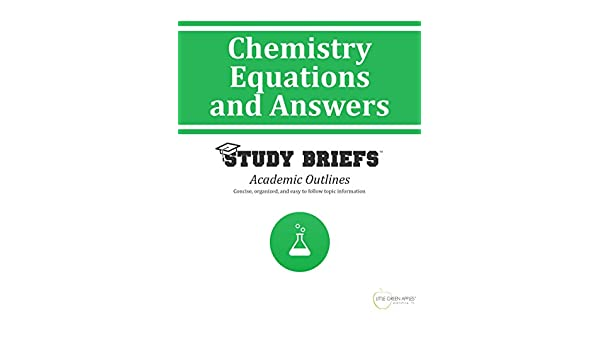 Amazon.com: Chemistry Equations and Answers eBook: Little Green ...