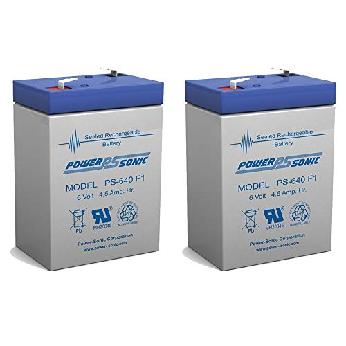- PS-640 6V 4.5AH SLA BATTERY F1 FAST ON TAB TERMINALS - 2 Pack