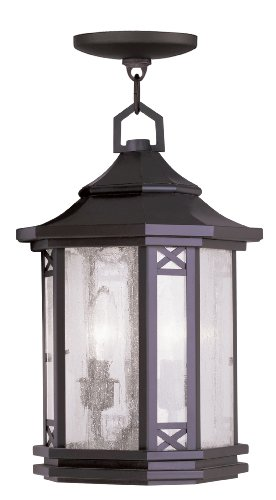 Livex Lighting 2317-07 Tahoe 2-Light Outdoor Chain Hang, (Bronze Tahoe Transitional Wall)