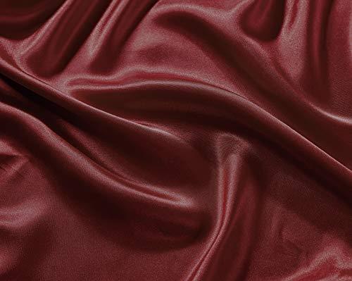 Fancy collection 4 pc Satin Sheet set Super soft Bridal Satin New (King, Burgundy)