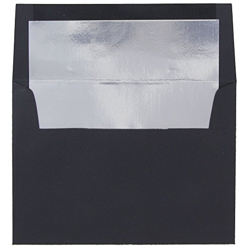 JAM Paper A7 Foil Lined Invitation Envelopes - 5 1/4
