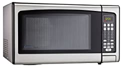 Danby Designer 1.1 Cu.ft. Countertop Microwave, Stainless Steel