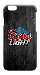 Rugged iPhone 6 Plus Case - Wood Logo Pattern Design Wood Coors Light Plastics Snap-on Hardshell Case for iPhone 6 Plus 4.263 Inch