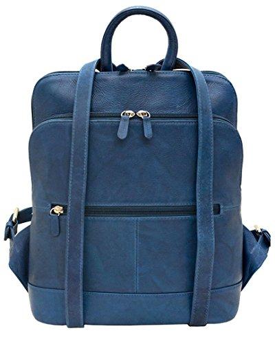 Blue Handbag Jeans Leather 6505 ili Backpack TXwCq4nHx