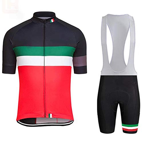 Grist CC Mens Cycling Clothing Suit,Bicycle Jersey Set,Summer Top +Shorts, for Cycling, Outdoor Cycling,L ()